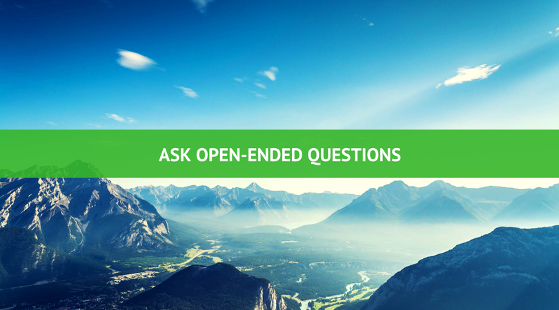 ASK OPEN ENDED QUESTIONS - 3 Secrets To Understanding Your Perfect Customer